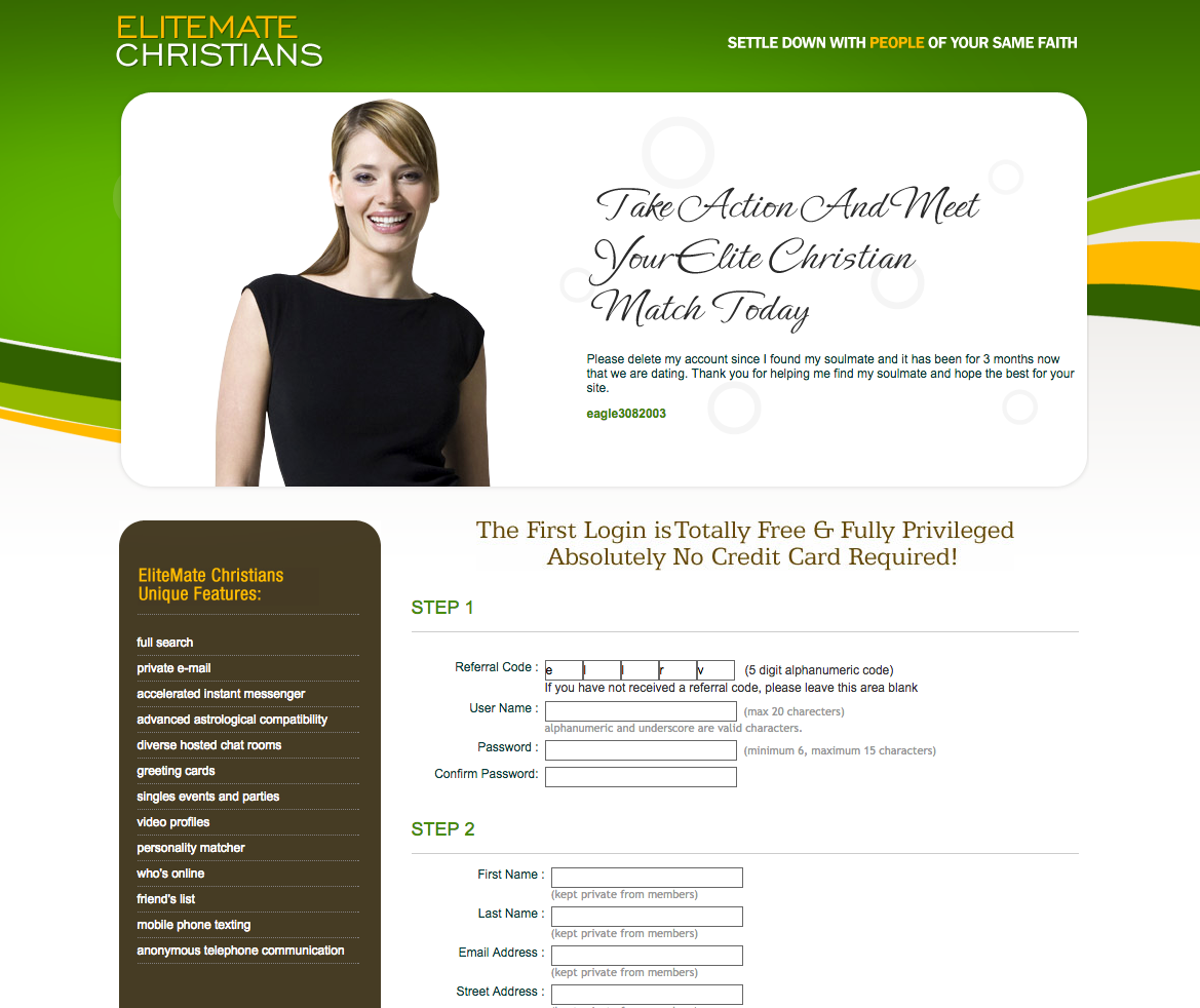 christian dating site for free in usa Mature singles trust wwwourtimecom for the best in 50 plus dating here, older singles connect for love and companionship.